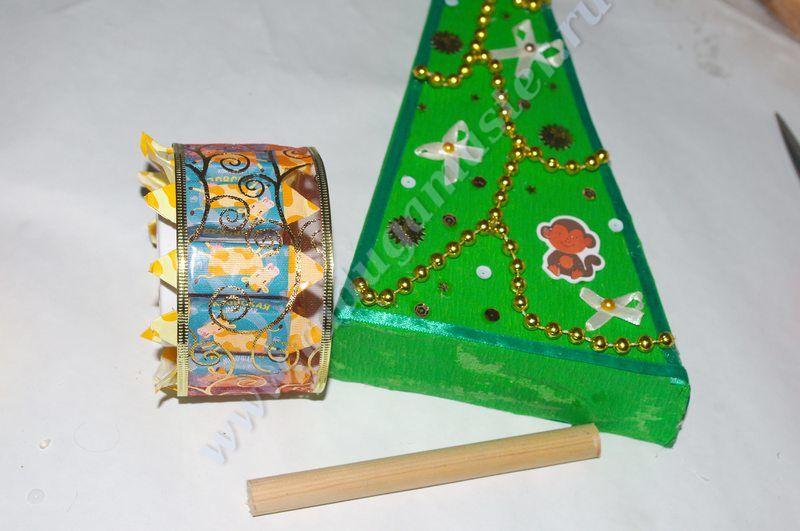 чайная елочка, елка из чая, мастер класс,мк, елка из чайных пакетиков, своими руками,елка из чайных пакетиков и чая, новогодние подарки, сладкие подарки,композиции из чая и конфет, Новый год
