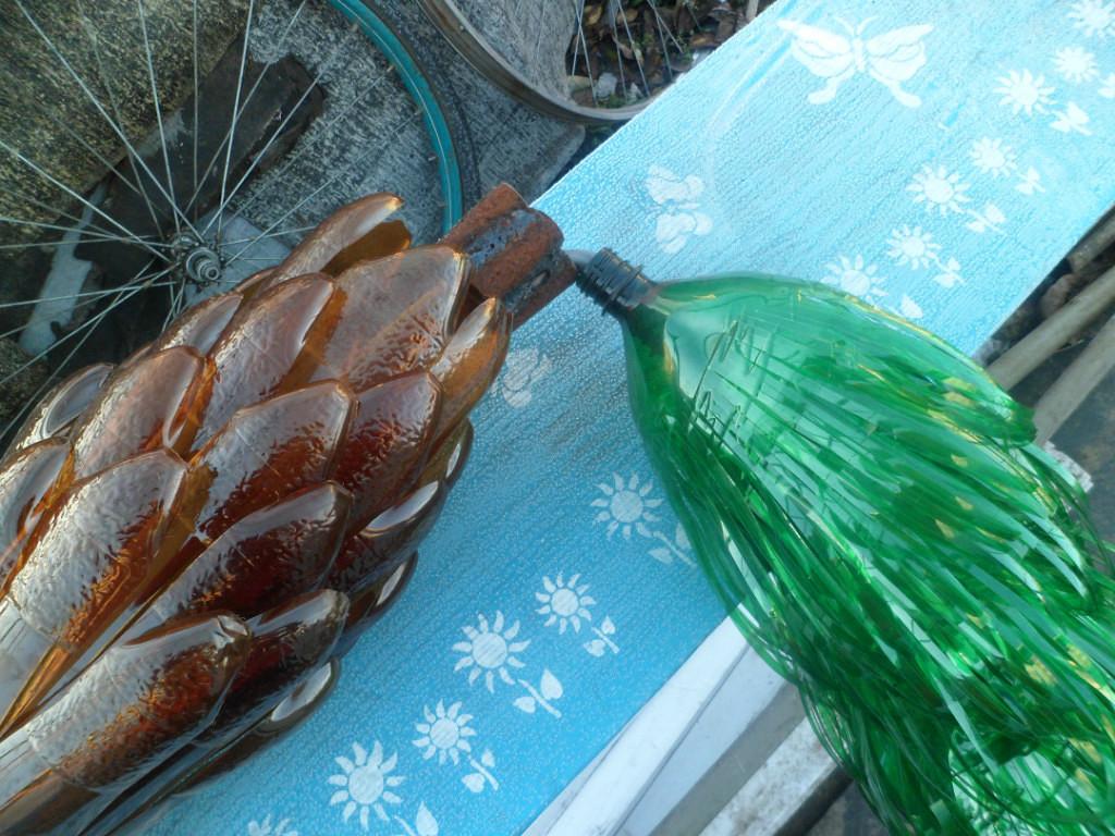 Пальма из бутылок пластиковых своими руками пошагово