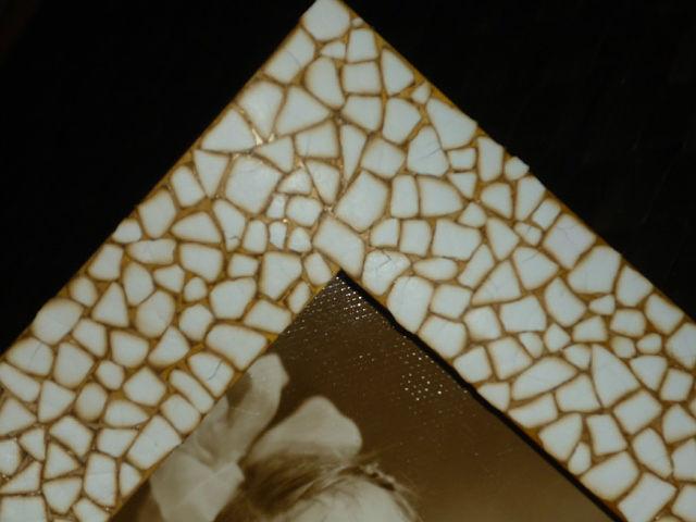 Фоторамка из яичной скорлупы