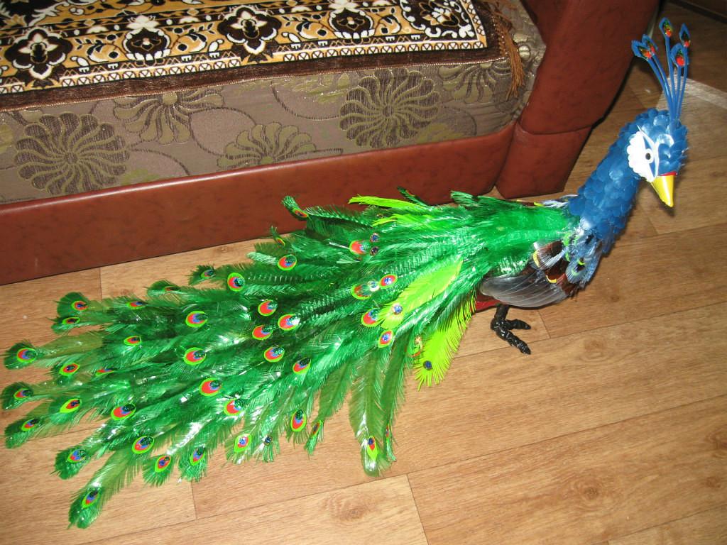 Птицы из пластиковых бутылок своими руками пошаговая инструкция фото