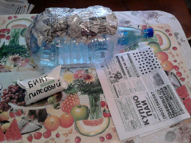 ежик из пластиковых бутылок,еж из папье маше,мк,мастер класс,садовые фигуры,обустройство приусадебного участка,поделки для сада и дачи,поделки из отходных материалов,декор садового участка
