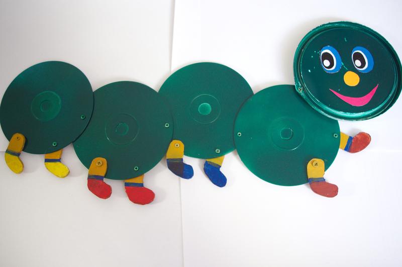 Поделки из дисков в садике 754
