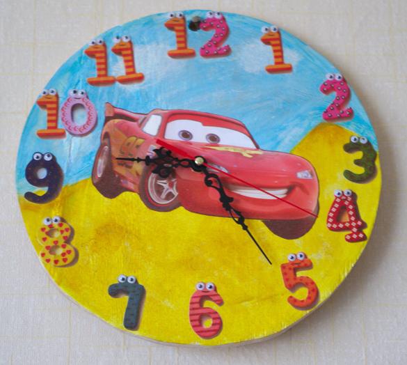 Часы настенные своими руками для детской