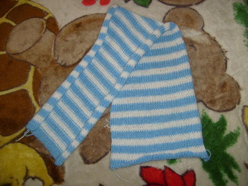 Вязание спицами. детские шарфики 20