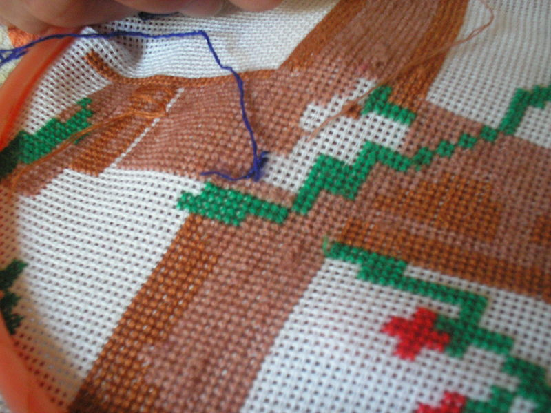 Идеальная изнанка при вышивке крестом мастер класс