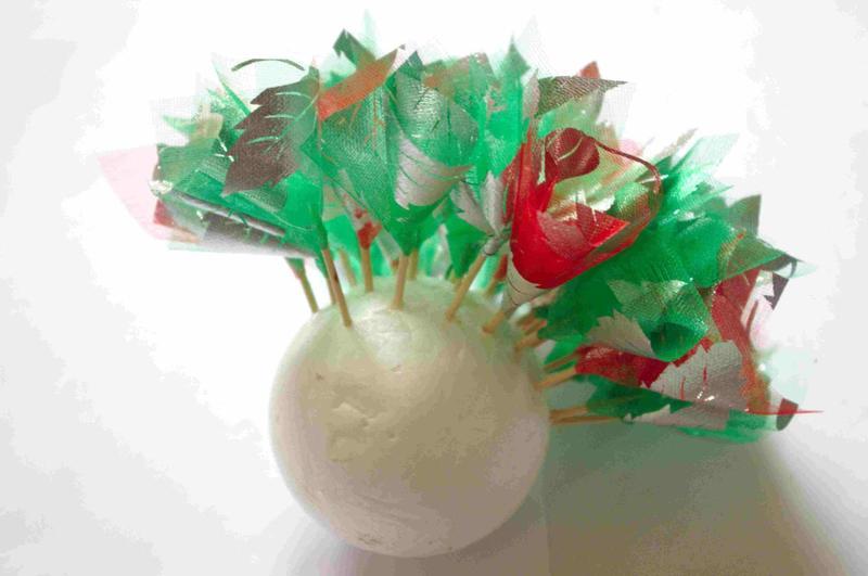 Топиарий из конфет пошаговое