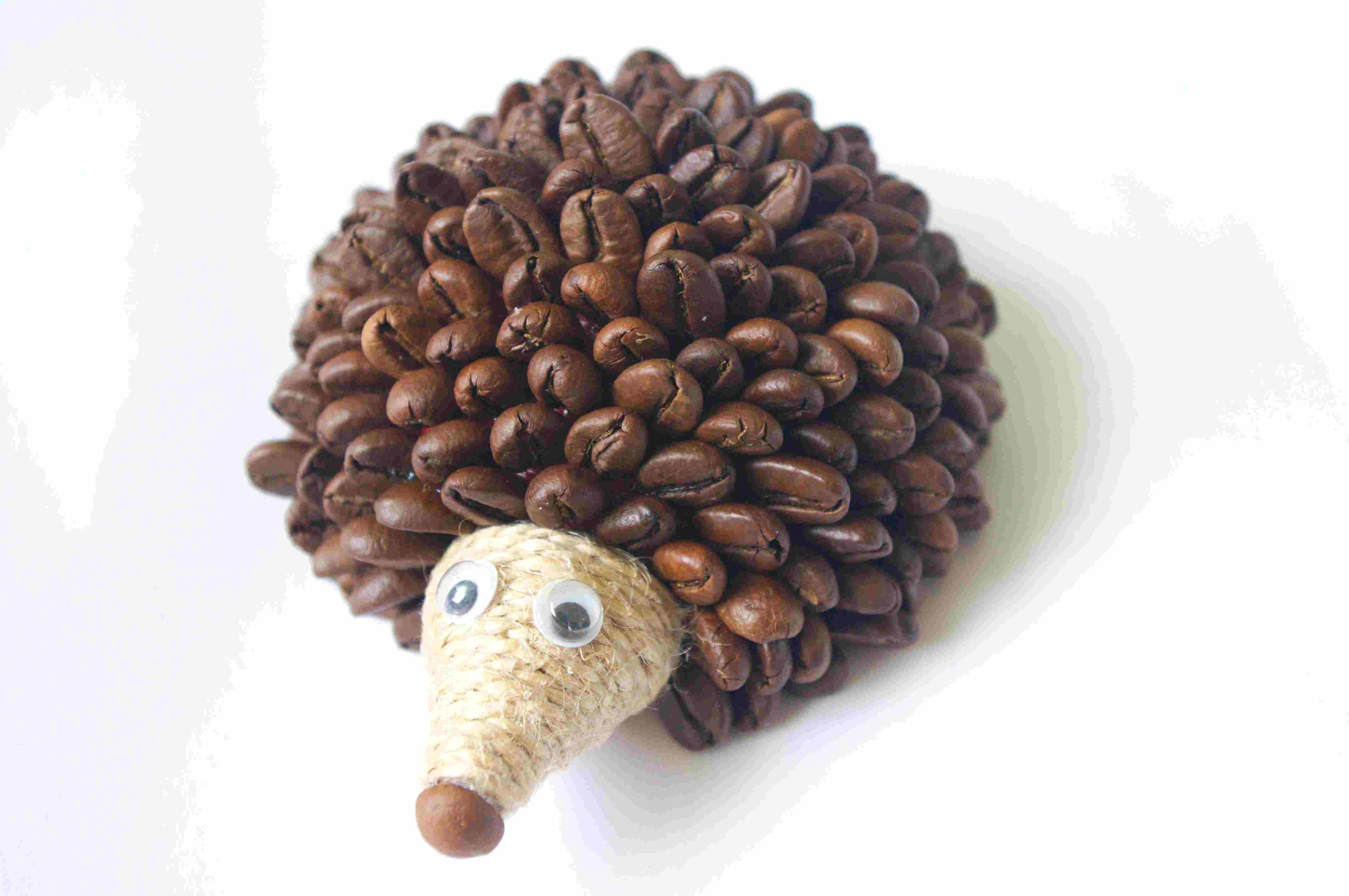 Ежик из кофейных зерен своими руками мастер класс