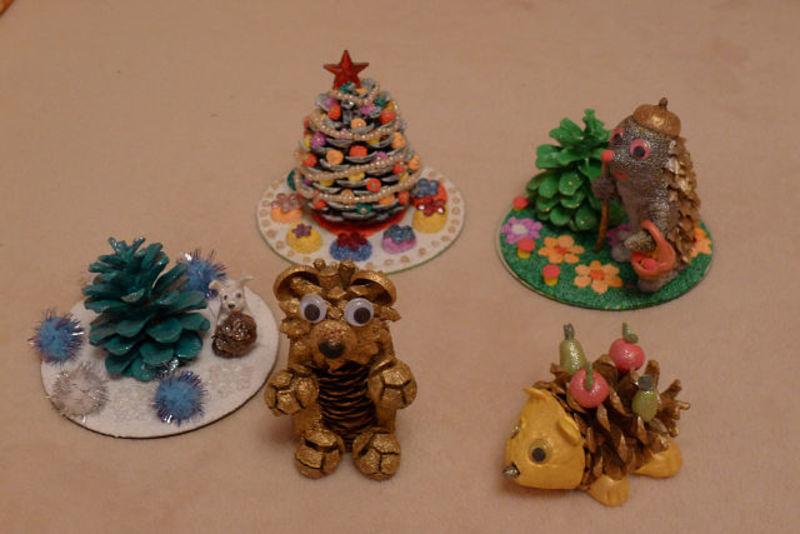 Поделки из природного материала к новому году в детский сад