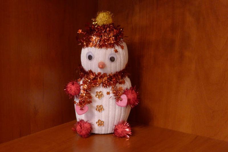 новогодние детские поделки.елочные украшения своими руками,украшения на елку,новогодние поделки из природных материалов,детские поделки,Новый год,праздники,елочные украшения из природных материалов,идеи к Новому году,новогодний декор,снеговик своими руками